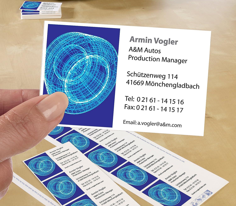 Avery Zweckform C 25 Classic Visitenkarten 250 Stück 85 x