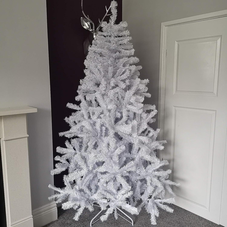 Snowtime 7ft 210cm White Colorado Pine Christmas Tree With 874 Tips