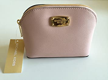0cb7f9275afd Amazon.com   Michael Kors Saffiano Leather Cindy SM Travel Cosmetic Pouch  Blossom Pink ...   Beauty