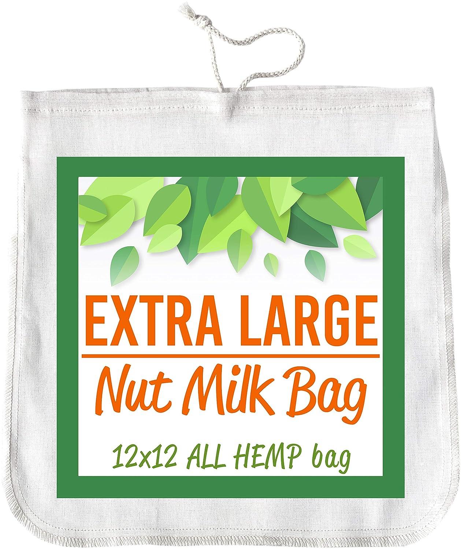 Bolsa de leche de nueces 12 x 12 HEMP colador de alimentos ...
