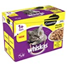 whiskas 1+ Casserole - Wet Cat Food for Adult Cats, Poultry Selection in Jelly, 48 Pouches (48 x 85 g)