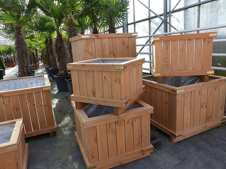 Holzkübel XXL Pflanzkübel Kübel Holz (60x60x40 cm): Amazon.de: Garten
