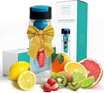 Savvy Infusion Flip Top Fruit Infuser Water Bottle