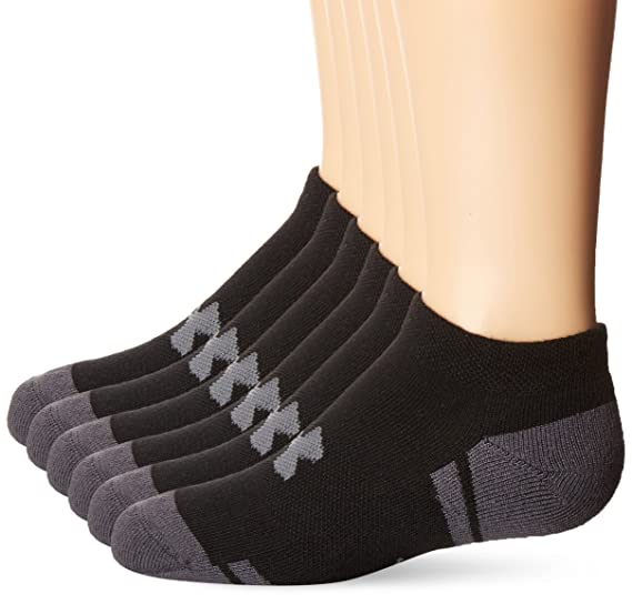 864d0e150ad9 Under Armour Boy Resistor 3.0 No Show Socks, Youth Large