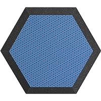 Hexagonal Espuma pared paneles 1, Azul, 12 inch