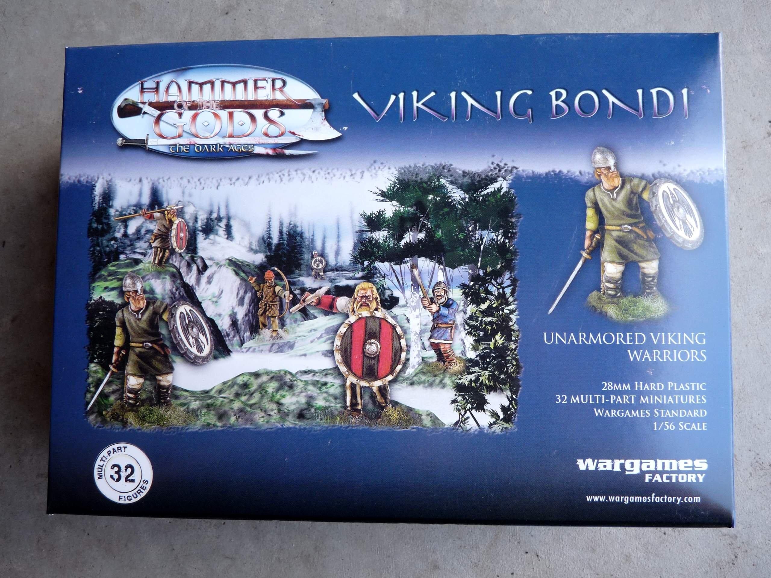 VIKING BONDI 28MM (32-UNARMOURED FIGURES): Amazon.es: Wargames Factory: Libros