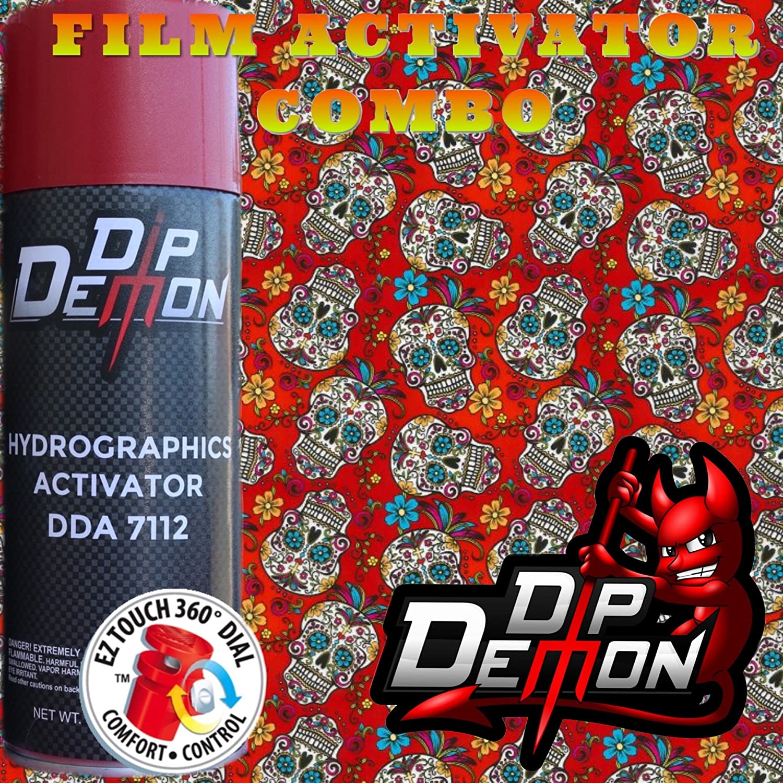 Hydrographic Film Full Kit Red Sugar Skulls