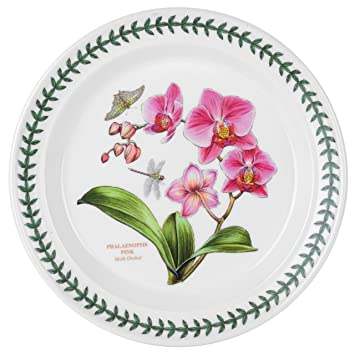 Portmeirion Exotic Botanic Garden Dinner Plate with Orchid Motif  sc 1 st  Amazon.com & Amazon.com | Portmeirion Exotic Botanic Garden Dinner Plate with ...