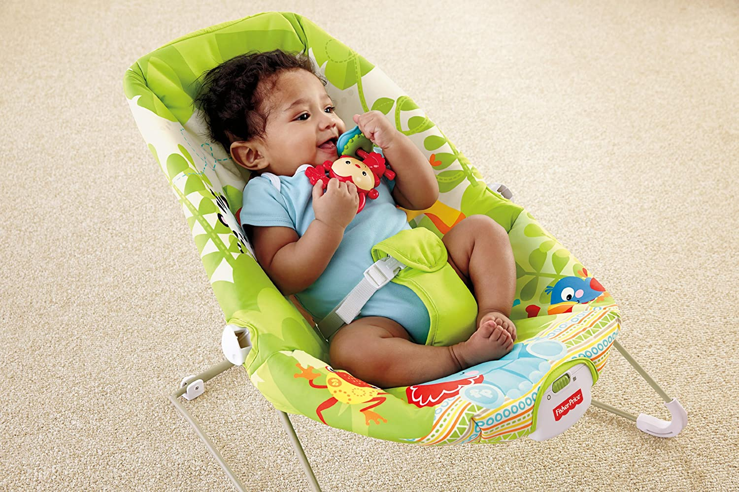 Bouncy chair baby - Amazon Com Fisher Price Rainforest Friends Bouncer Infant Bouncers And Rockers Baby