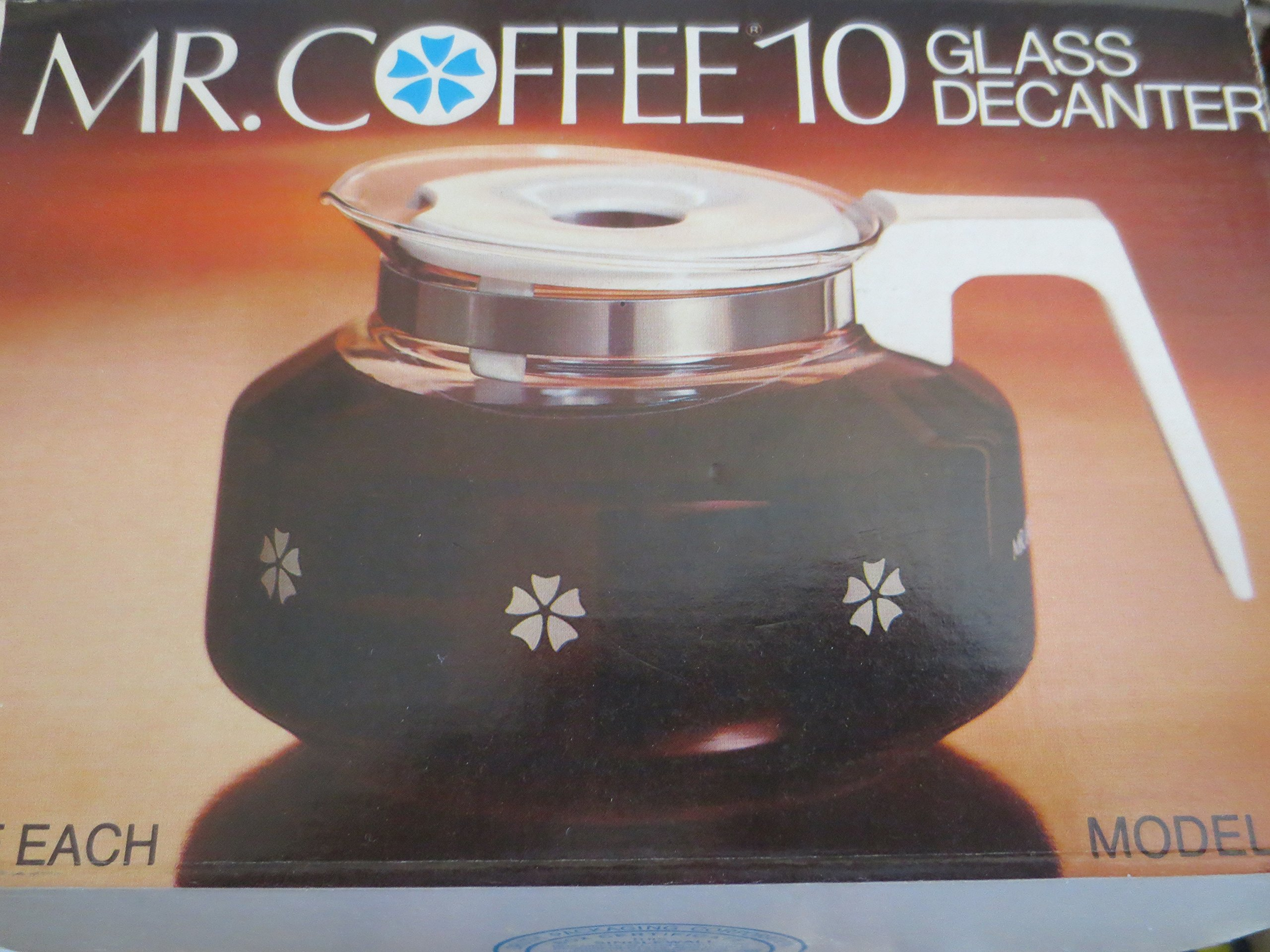Mr. Coffee 10 Cup Glass Decanter Carafe Model D-7 -- Fits Black & Decker Spacemaker SDC2A, SDC2D, SDC3A, Bunn Pour-Omatic GR, General Electric GE Spacemaker SDC2, SDC3, Norelco C164, C564, CT162, CT663, Dial-A-Brew HB5183, 5184, 5185, 5186, 5186-C, 5187,  by Mr. Coffee
