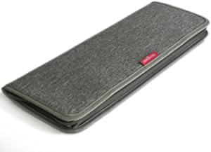 LeanTravel Premium Men Tie Case Organizer for Travel w/Storage Bag for Cufflinks and Small Accessories