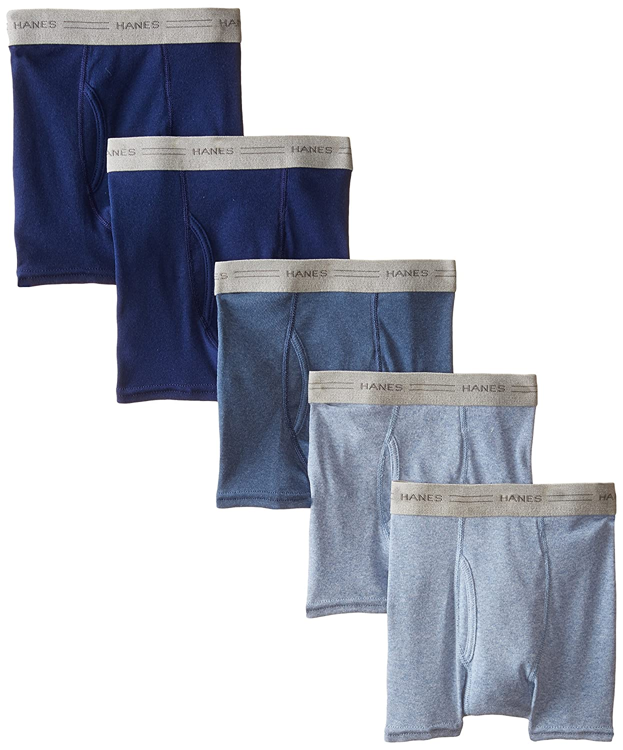 Hanes Boys' Boxer Brief Pack of 5 Assorted Large Hanes Boys Red Label Bottoms B749B5