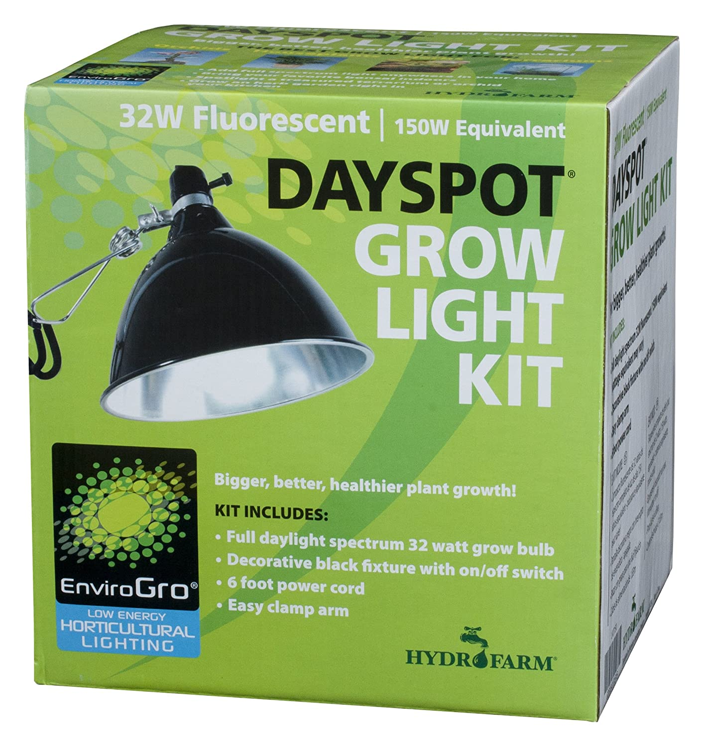 amazoncom dayspot 32w 150w equivalent dayspot grow light kit plant growing light fixtures garden u0026 outdoor