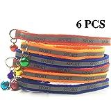 FUNPET 6 Pack Set Breakaway Cat Collar with Bell 8-11 Inch