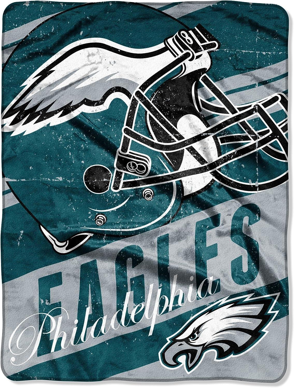 "Officially Licensed NFL ""Deep Slant"" Micro Raschel Throw Blanket, 46"" x 60"", Multi Color"