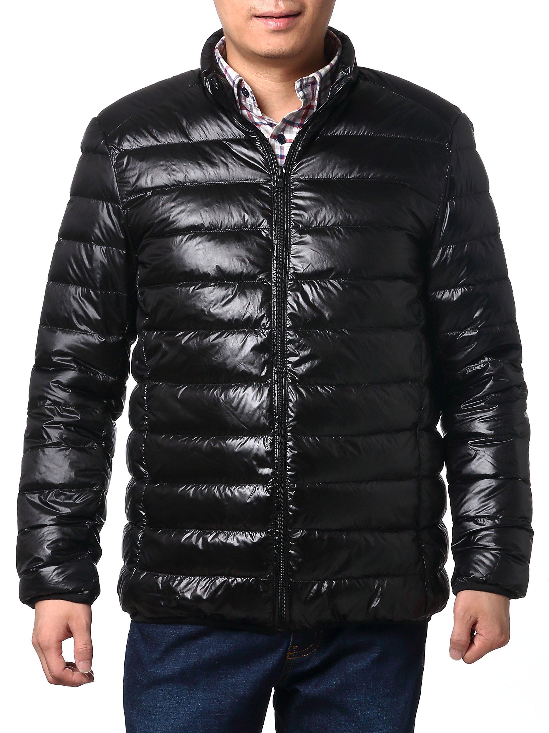 Multicolor Jackets Lightweight Puffer Jacket,Packable Down Jacket For Men (L, Black)