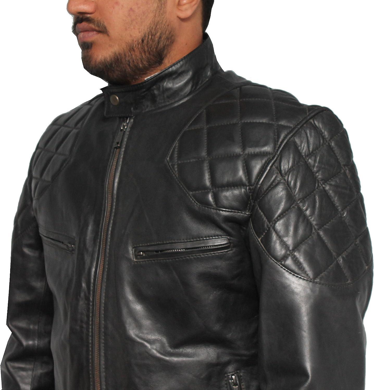 David Beckham Brando Biker Leather Jacket