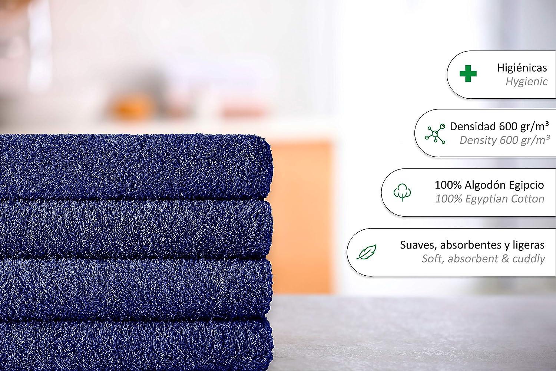 Tocador 30x50 cm Algod/ón Egipcio 100/% 4 Unidades Natural Eiffel Textile Packs de Toallas Calidad Rizo 600 gr