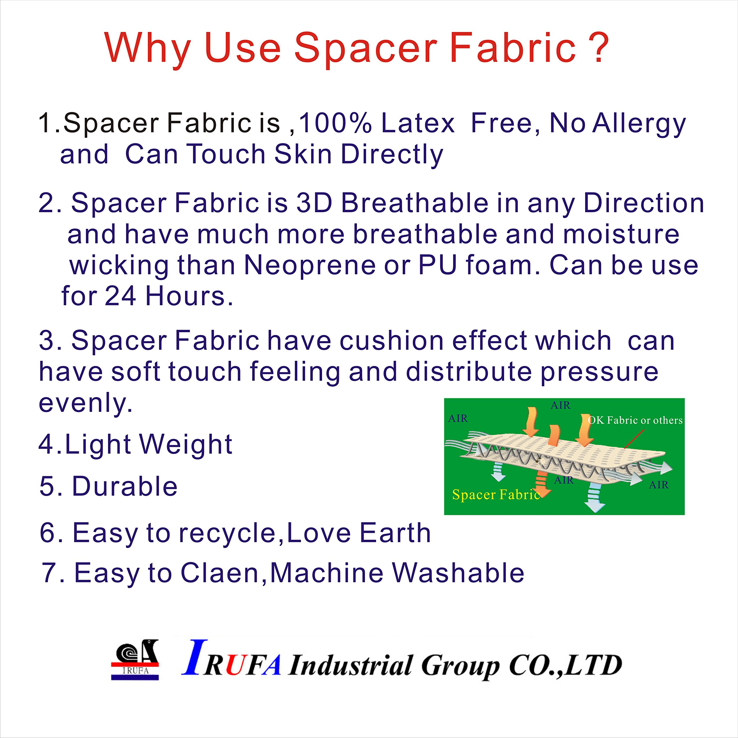 IRUFA,WR-OS-17,3D Breathable Spacer Fabric Wrist Brace, for TFCC Tear- Triangular Fibrocartilage Complex Injuries, Ulnar Sided Wrist Pain, Weight Bearing Strain, One PCS (Spacer Fabric) by IRUFA (Image #7)