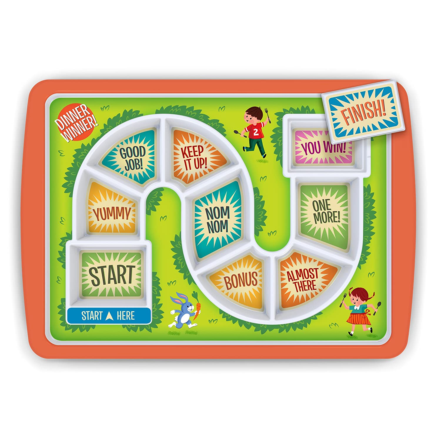Amazon com  Fred DINNER WINNER Kids  Dinner Tray  Kitchen   Dining. Dining Plate Set Malaysia. Home Design Ideas