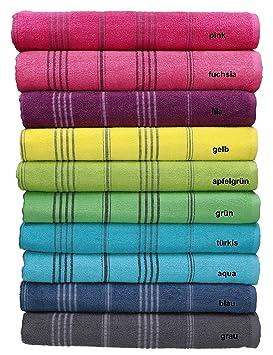 BETZ Toalla de baño Toalla de Playa Líneas 100% algodón veraniegos tamaño 90x180 cm Color Turquesa: Amazon.es: Hogar