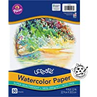 Watercolor Paper, White, Package, 140 lb, 50 Sheets, 9 inch x 12 inch