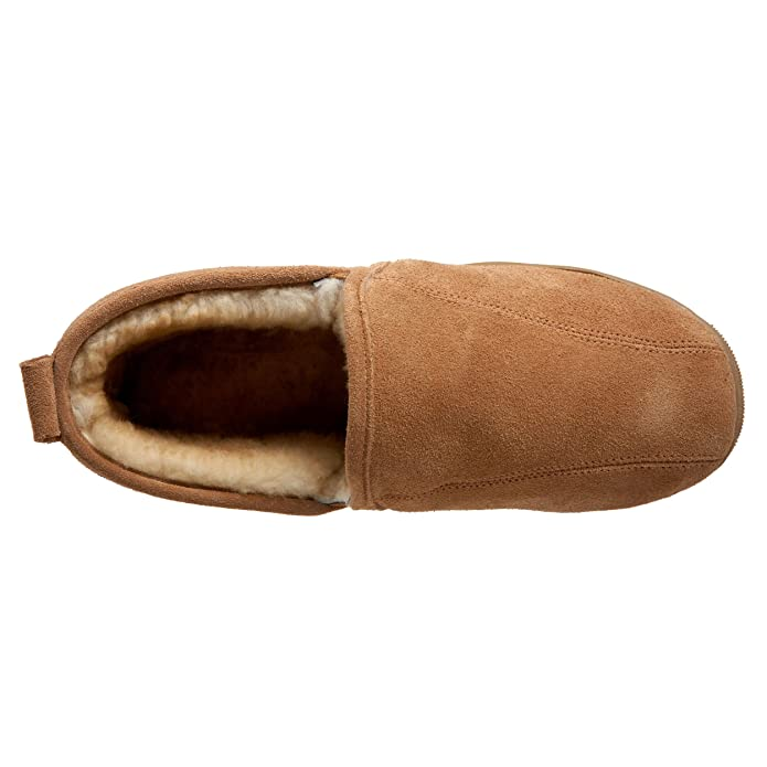 c438b4e1e Amazon.com | Lamo Men's Romeo Slip-On Loafer, Shoes, Suede with Wool Lining,  Chestnut | Slippers