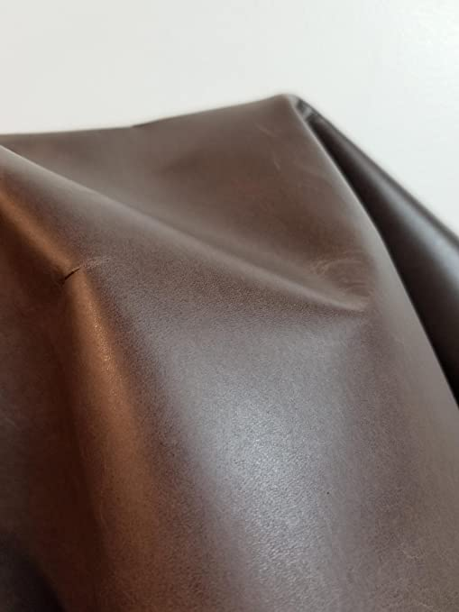 Italian Cowhide leather skin hide Cow Full Grain chocolate brown 20 Sq.Ft