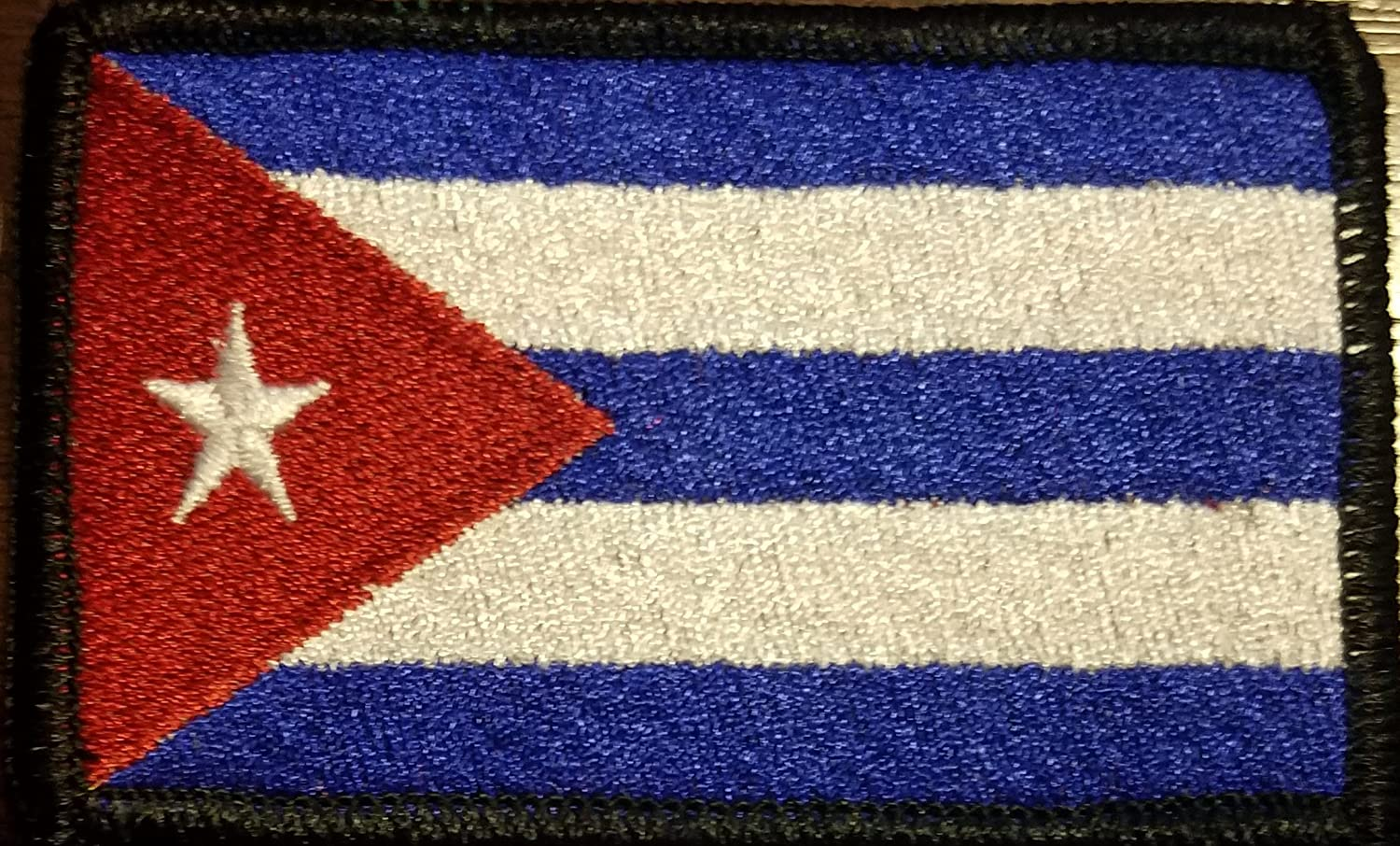 Cuba National Flag Iron on Patches Embroidered Applique Badge Emblem