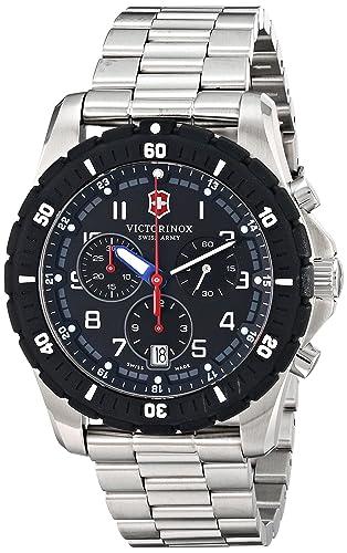 bc7829be29cf Swiss Army Maverick Sport Quartz Chronograph Stainless Steel Mens Watch  Calendar 241679  Victorinox  Amazon.es  Relojes