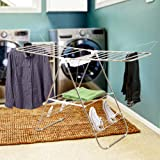 Heavy Duty Laundry Drying Rack- Chrome Steel Clothing Shelf for Indoor and Outdoor Use Best