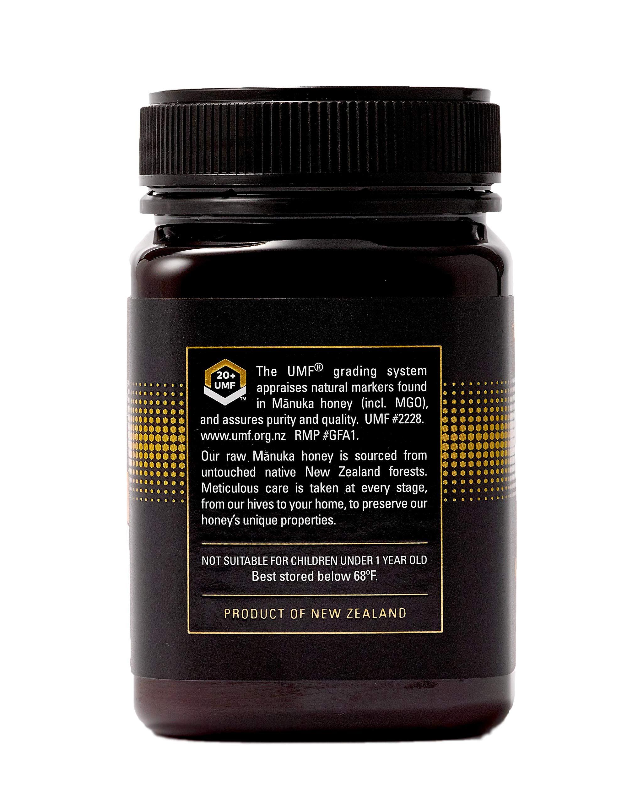Manukora UMF 20+/MGO 830+ Raw Mānuka Honey (500g/1.1lb) Authentic Non-GMO New Zealand Honey, UMF & MGO Certified, Traceable from Hive to Hand by Manukora (Image #4)