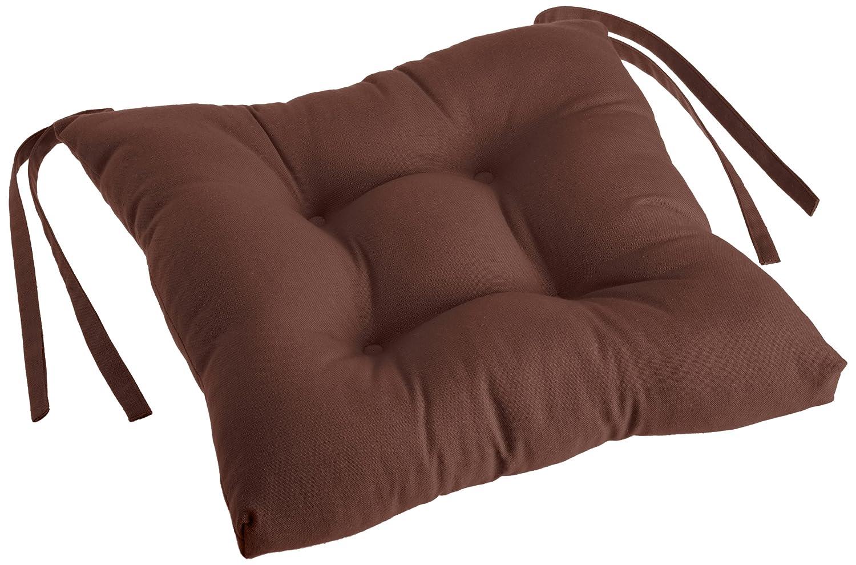 GDAW 108-17x17-Chocolate Chocolate Inc Trendex Home Designs Dawson Chair Pad