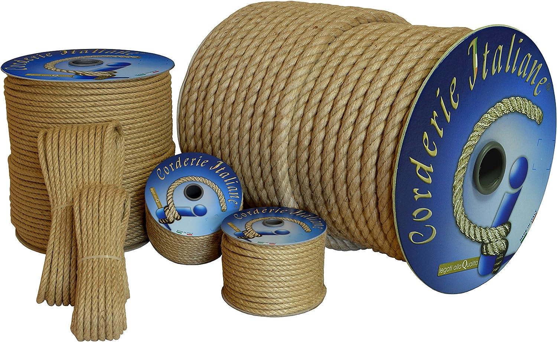 Corderie Italiane 006043966 Corde en jute 14 mm 20 m