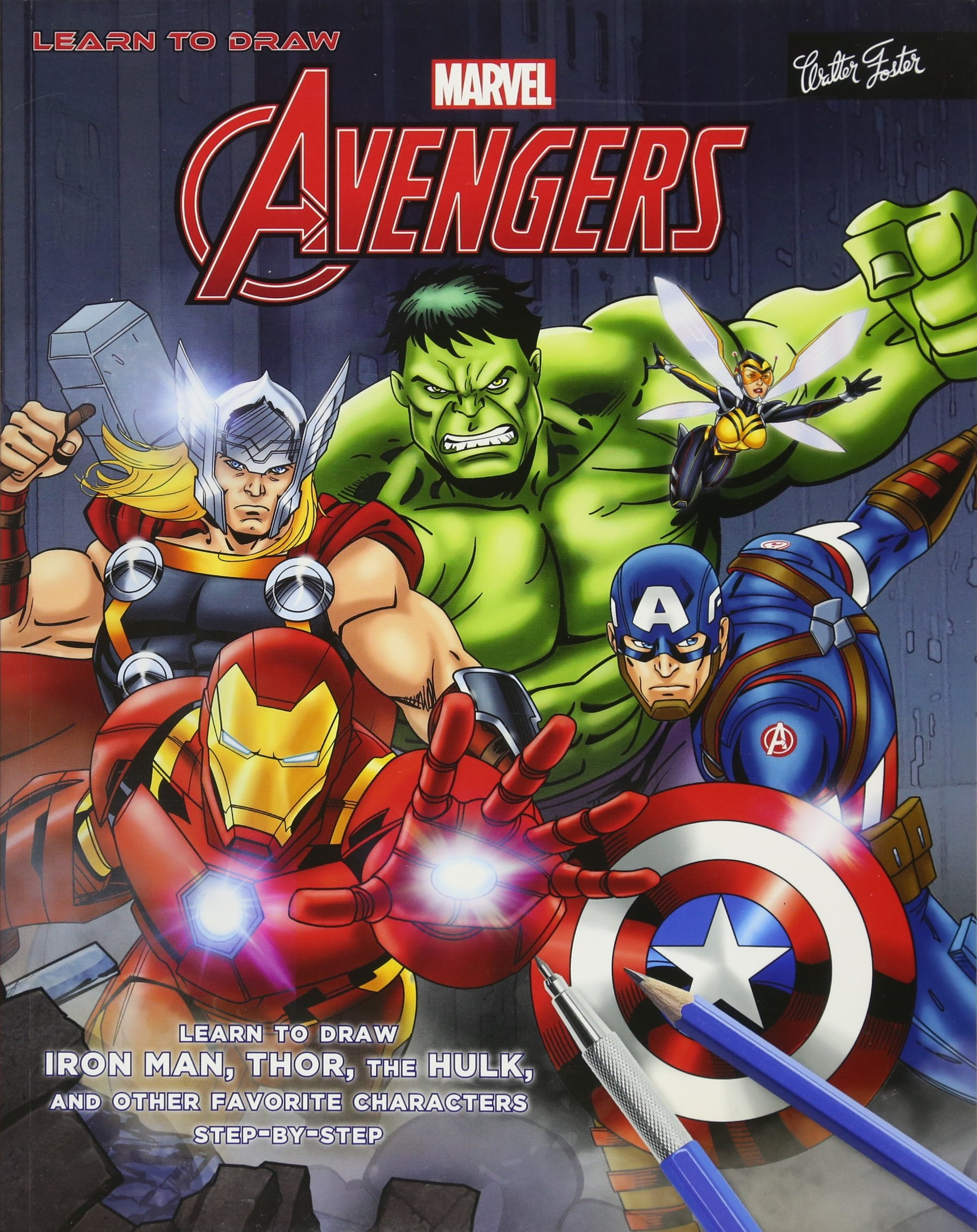 Amazoncom Learn To Draw Marvels The Avengers Learn To Draw Iron
