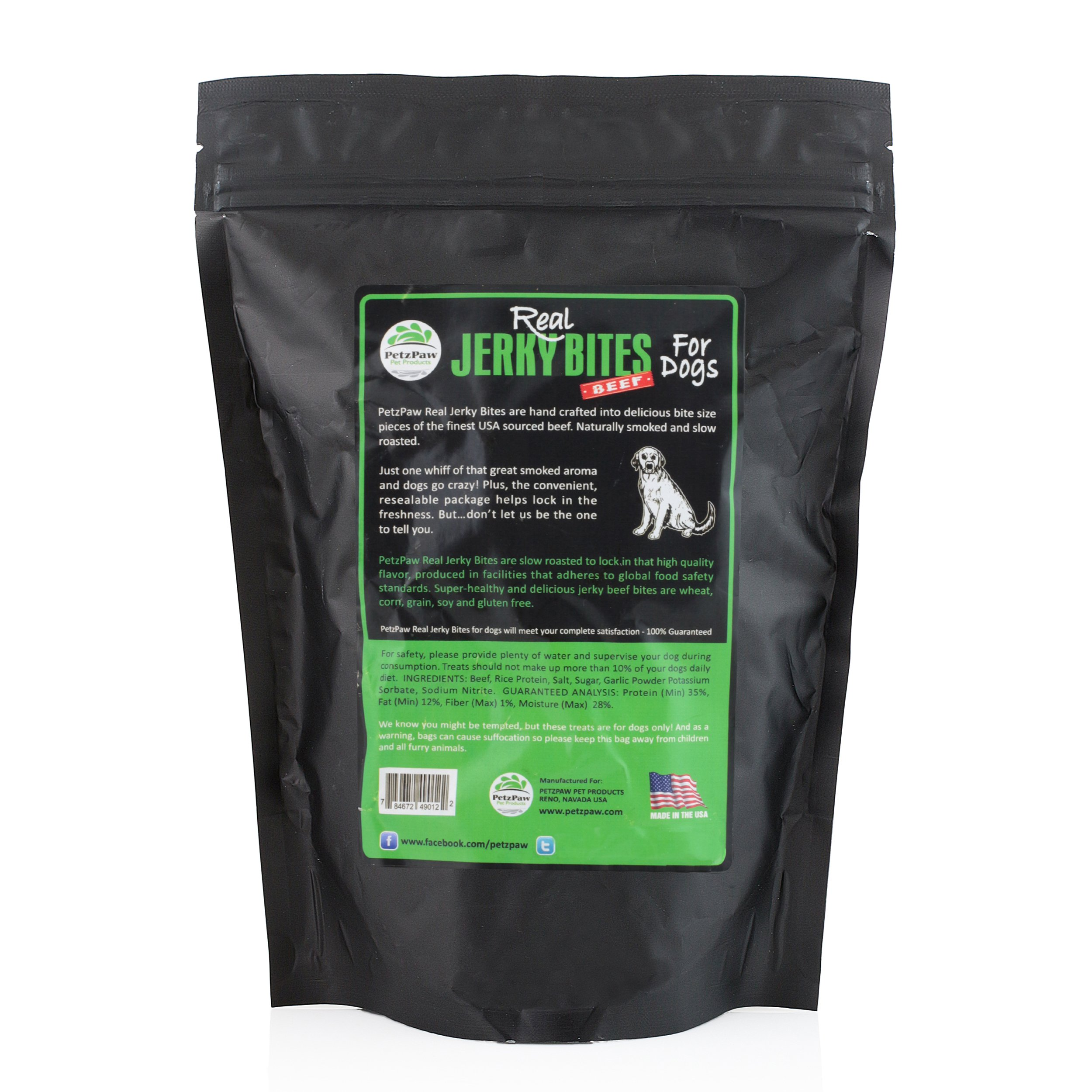 Beef Jerky Dog Treats - Natural Made in the USA - Pet Training Treat by PetzPaw Pet Products (Image #3)