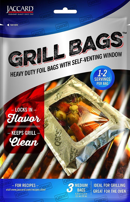 Jaccard 201505 Qbag Heavy Duty Aluminum Grill & Oven Bag, Medium