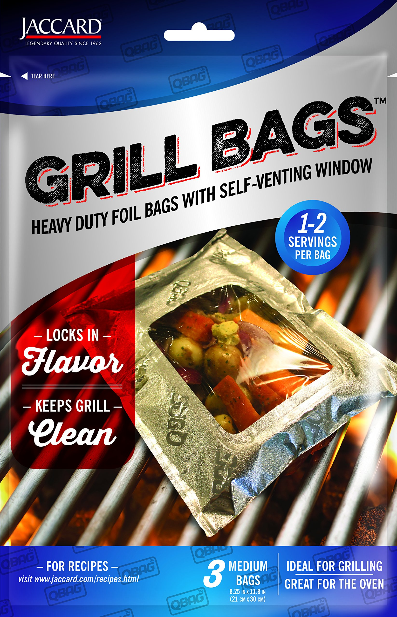 Jaccard 201505 Qbag Heavy Duty Aluminum Grill & Oven Bag, Medium by Jaccard (Image #1)
