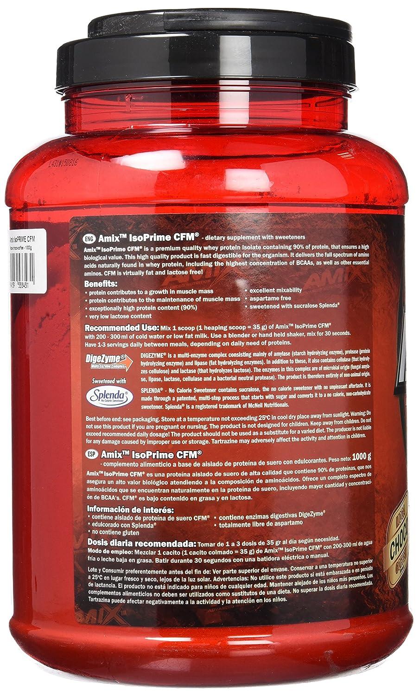 Amix Isoprime CFM, Proteínas con Sabor de Moca, Chocolate y Café, 1000 g