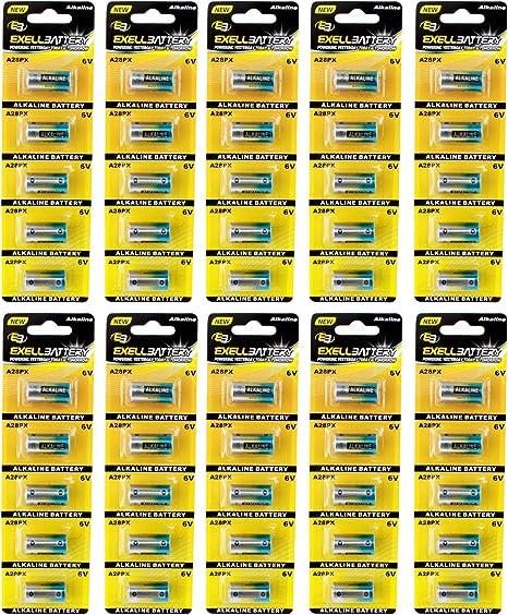 Hillflower 5 Piece 4LR44 PX28A A544 476A K28A L1325 Card 0/% Hg 6V Long Duration Alkaline New Light Prime Battery