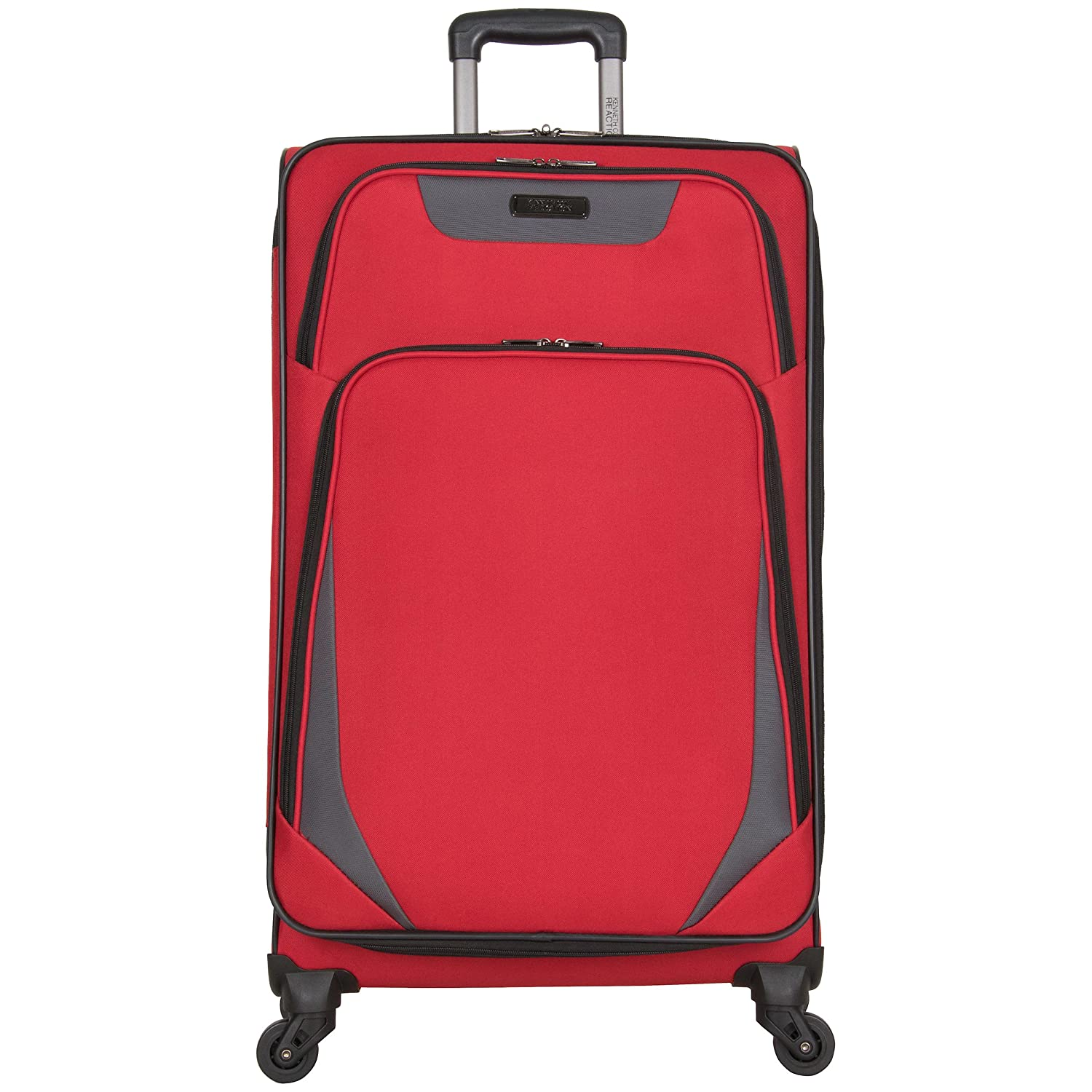 Kenneth Cole Reaction Going Places 28 600d Polyester Expandable 4-Wheel Spinner Checked Luggage, Black Heritage-Kenneth Cole Luggage 5709205