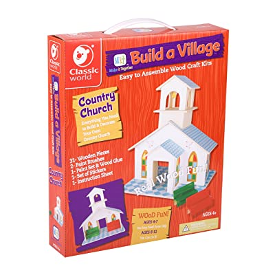 Classic Build A Village Church Building Kit: Toys & Games
