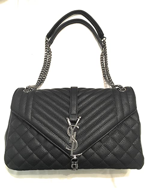 YSL KC Luxury Large Monogram Envelope Chain Shoulder Bag Black Handbag   Amazon.ca  Shoes   Handbags 78e3cdc7d2cc1