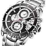 BENYAR Men Quartz Watches Waterproof Business Casual Sport Band Watch Mens Fashion Chronograph watch