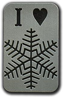 "ToeJamR - Placca antiscivolo, a tema ""Io amo la neve"", colore: grigio"