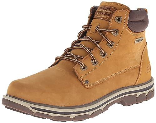 85b9d258294 Amazon.com | Skechers USA Men's Segment Amson Chukka Waterproof Boot ...