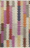 """Momeni Rugs CARAVCAR-3MTI3959 Caravan Collection, 100% Wool Hand Woven Transitional Area Rug, 3'9"""" x 5'9"""", Multicolor"""