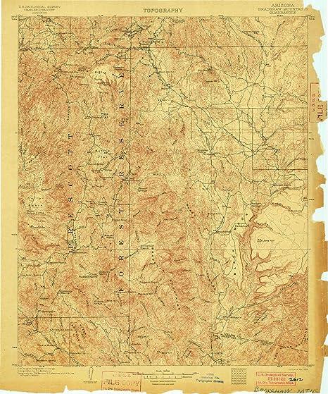 Az Topographic Map.Amazon Com Yellowmaps Bradshaw Mountains Az Topo Map 1 125000