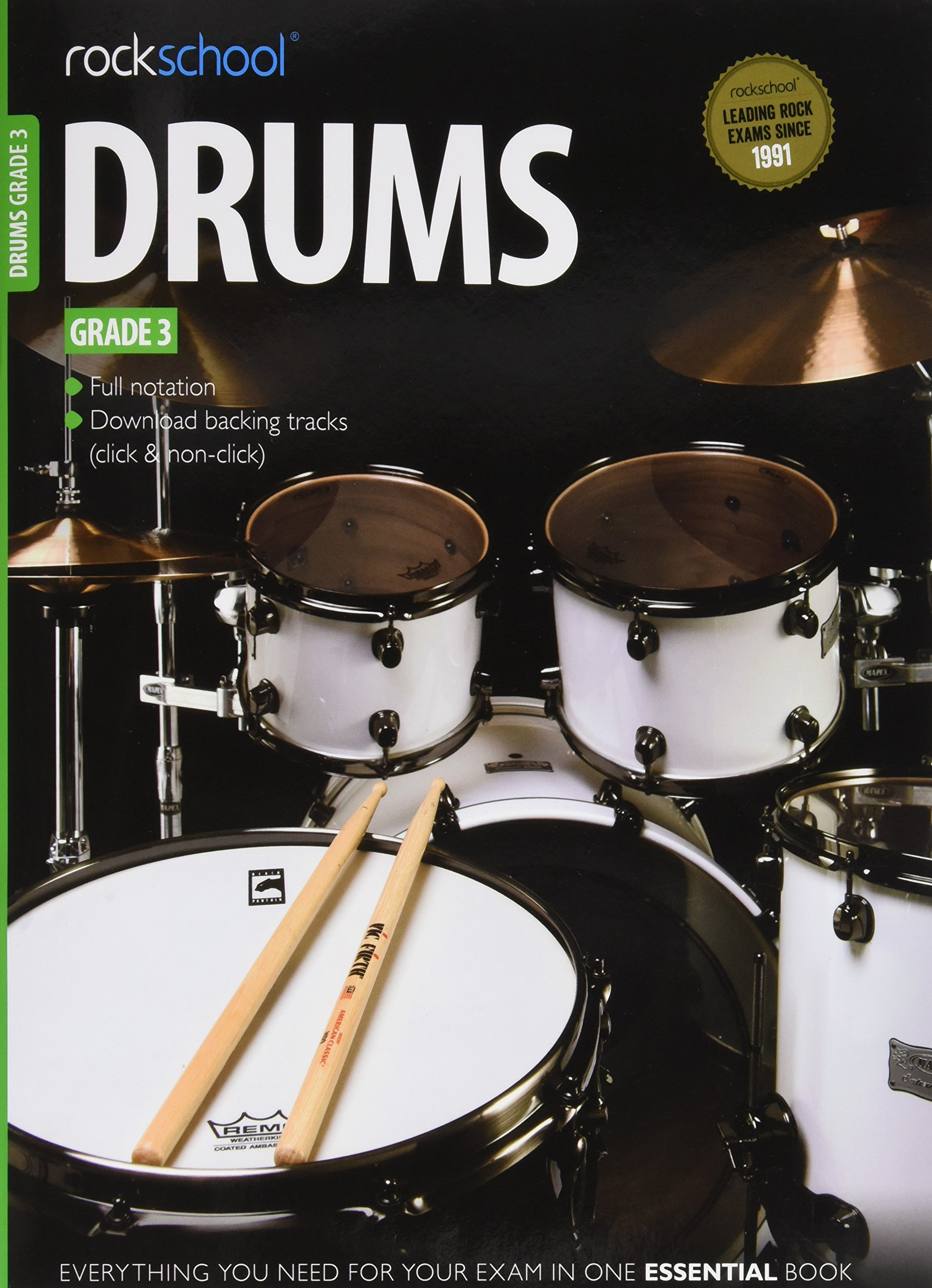 Ameb | rockschool: hot rock drums grade 3 (book/audio download).