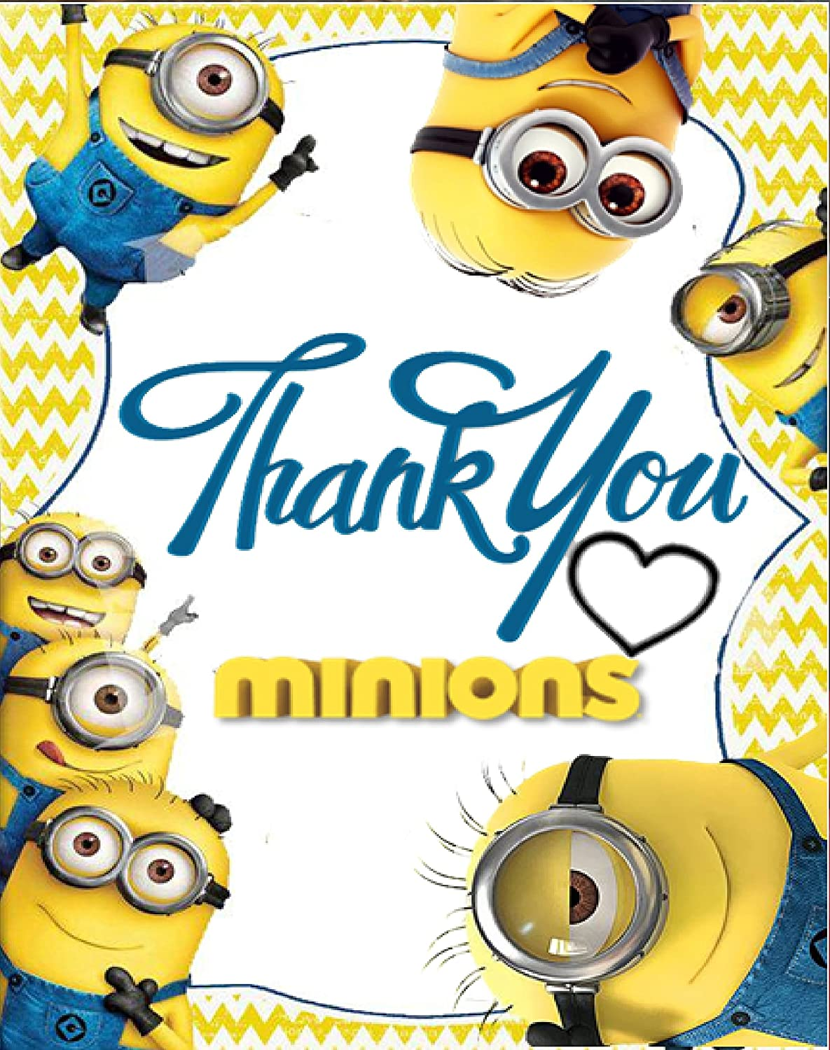 Minion Theme Thank You Tags 10 Pieces For Birthday Party Kids Cards Gifts Great